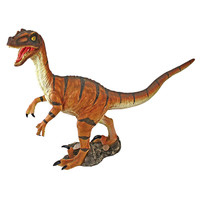 Park Avenue Collection Velociraptor Scaled Dinosaur Statue