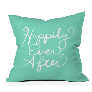 Lisa Argyropoulos Happily Ever After Aquamint Throw Pillow