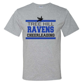 One Tree Hill Fans!! Ravens Cheerleading Short Sleeve Tee, Ravens Basketball