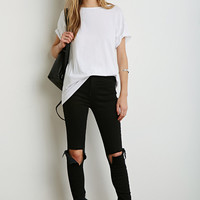 Draped Cutout-Back Tee