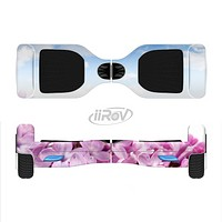 The Blue Sky Pink Flower Field Full-Body Skin Set for the Smart Drifting SuperCharged iiRov HoverBoard