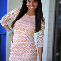 Close Your Eyes Dress: Pale Peach   Hope's