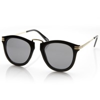 Designer Inspired Rounded P3 Sunglasses with Metal Arms