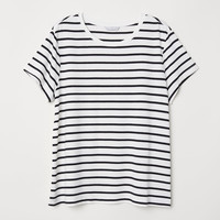 H&M Glossy Jersey Top $17.99
