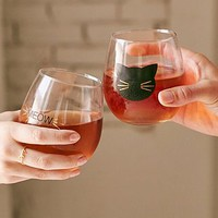 Meow Wine Glass Set - Urban Outfitters