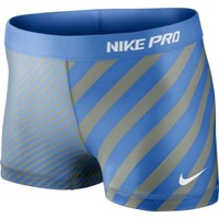 """Nike Women's 2.5"""" Fitted Compression Pro Print Shorts"""