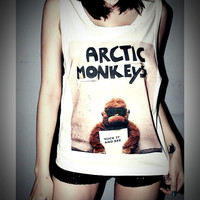 Arctic Monkeys Rocker Shirt Women Girl Side Boob Tank Tops