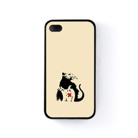 Banksy Toxic Black Silicon Case Rubber Case for Apple iPhone 4 / 4s by Chargrilled