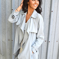 Cloudy Skies Trench Jacket