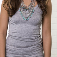 Just Right Heather Gray Jersey Tank Top