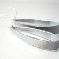 Big hoop earrings - aluminum earrings - upcycled jewelry - sterling silver ear wires