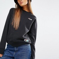 Fila | Fila Sweatshirt With Logo And Tape Detail Badge at ASOS