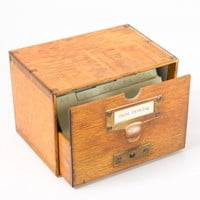 Card Catalog Notes (Set of 30) - Boxed Note Cards - Stationery