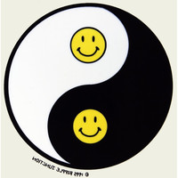 Smiley Yin Yang Clear Decal