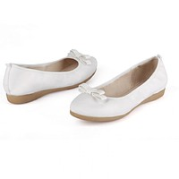 Bowtie Ballet Flats Loafers Slip on Shoes 3485