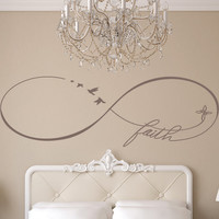Infinity Faith Decal, Infinity Love Decal, Couples Decals, Love Decor, Wedding Gifts, Bedroom Decals, Vinyl Wall Family Decor
