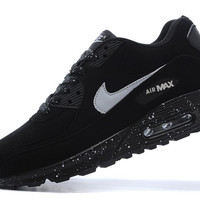 Nike White & Black Air Max 90 Hyperfuse Running Shoes