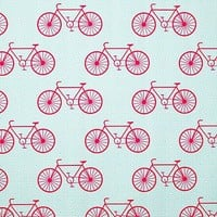 One Kings Lane - It's a Wrap - Wrapping Paper Roll, Coral Bike