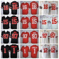 Youth Ohio State Buckeyes Jerseys College 97 Joey Bosa 15 Ezekiel Elliott 16 J.T Barrett Kids Football Jersey 1 Braxton Miller 12 Jones