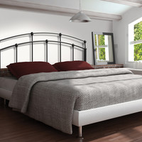 Bed - Queen Or Full Size  / Gun Black Head Or Footboard