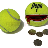 Recycled Tennis Ball Round/Compact Change Holder by MANIkordstudio