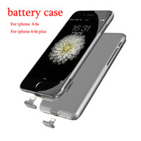 Ultrathin Rechargeable External Battery Case for iPhone 6 6s Plus Case Backup Charger Case for iPhone 6s 6 Plus Power Bank Cover