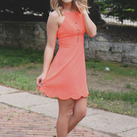Just Add Confetti Dress - Neon Coral