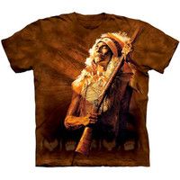 NO MORE TALK Native American Indian Chief T-Shirt The Mountain Tee S-3XL NEW