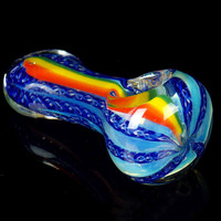 Rasta Glass Spoon Pipe
