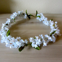 White Flower Wreath Headband Flower Crown