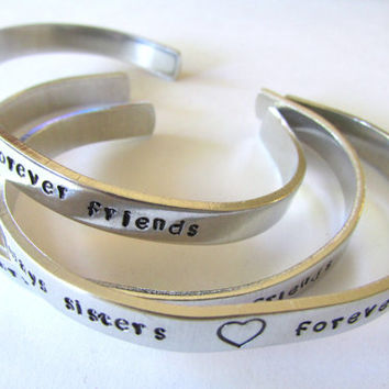 Personalized NAME Handstamped Cuff Bracelet ~ HANDMADE by the KIDS