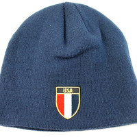 Puma Unisex Adult Country USA Navy Blue World Cup Beanie Hat