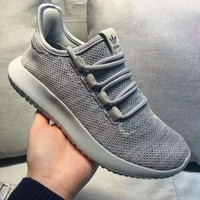 """Adidas"" Women Yeezy Boost Sneakers Running Sports Shoes gray"