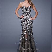 Strapless Sweetheart La Femme Formal Prom Gown 20424