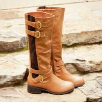 Fort Rock Tall Cognac Riding Boots