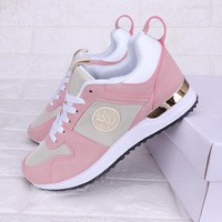 Louis Vuitton LV Hot Sale Women Personality Shoes Sneakers Apricot/Pink