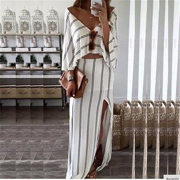 *in store* 2pc top and skirt set
