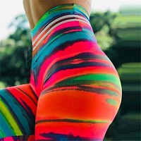 Sexy Push Up Colorful 3D Print Legging