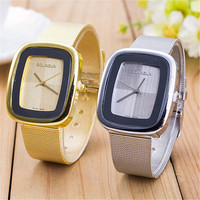 Womens Retro Hight Quality Rectangle Dial Gold Alloy Strap Watch Best Christmas Gift 415