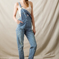 Vintage Engineer Stripe Denim Overall - Urban Outfitters