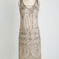 Vintage Inspired Sleeveless Shift Gleam Interpretation Dress