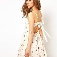 Paul and Joe Sister Open Back Sundress with Bright Floral Embroidery at asos.com