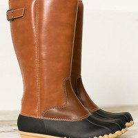Radiant Rubber Riding Boots