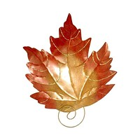 D Art Collection Iron Maple Leaf WallDecor New