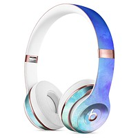 Teal 424 Absorbed Watercolor Texture Full-Body Skin Kit for the Beats by Dre Solo 3 Wireless Headphones