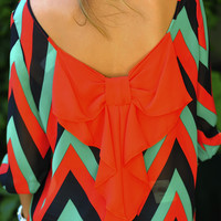 I Love You So Chevron Top: Red/Green | Hope's