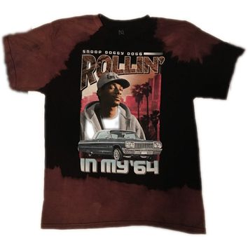 Hand Bleached Snoop Dogg 64 Hip Hop Band Tee