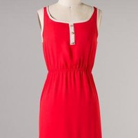 Heritage Pride Sleeveless Summer Dress in Red | Sincerely Sweet Boutique