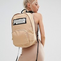 Puma Exclusive To ASOS Logo Backpack In Sand at asos.com