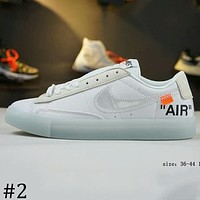 OFF-WHITE x NIKE BLAZER MID Joint Series Trailblazer Low Top Shoes F-A-FJGJXMY #2